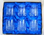 Crystal Whisky Tumblers, Gift Set 6 Glasses PERSONALISED ref CW6S